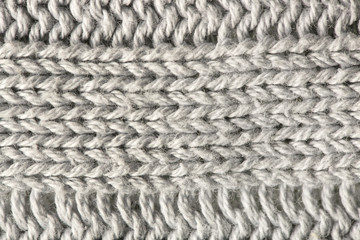 Textured gray background - striped textile close up image