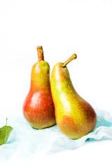 Fresh pears fruit isolated on white