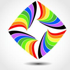 Regenbogenquadrat