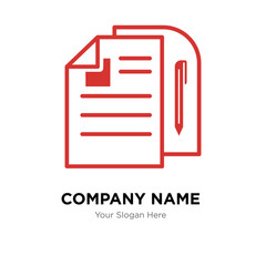 Fototapeta document company logo design template