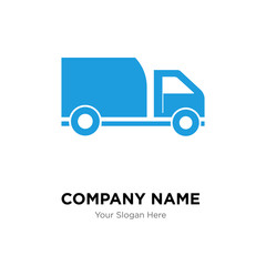 Delivery truck company logo design template