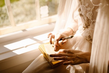 Bride Writing A Letter