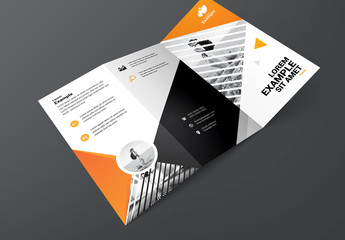 Trifold Brochure with Triangular Photo Placeholder