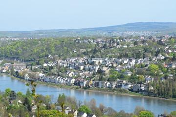 Blick über Koblenz von Süd nach Nord