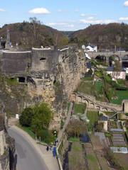 Bockfelsen mit Festungsresten in Luxemburg-Stadt