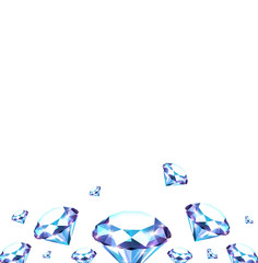 Background with diamonds