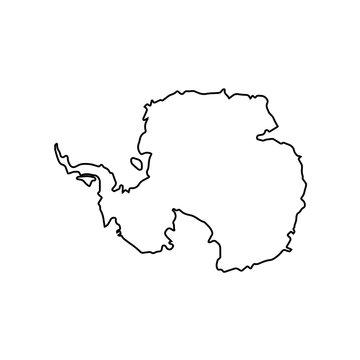 map of Antarctica. vector illustration