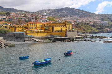 Fortaleza de São Tiago Funchal harbour Skyline Madeira island Portugal