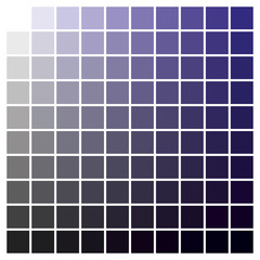 Color chart blue black print production color guide ink catalog