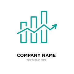 Decreasing stocks bars company logo design template