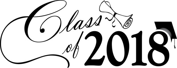 Class of 2018 Banner with Cap and Diploma