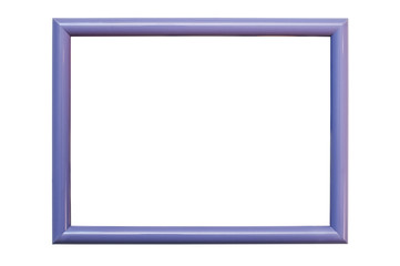 A violet frame on a white background for photos