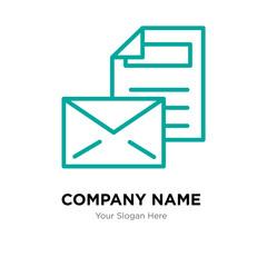 Mail company logo design template