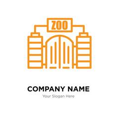 Zoo company logo design template
