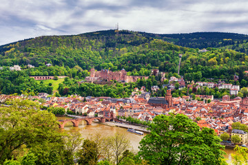 View of beautiful medieval town Heidelberg, Germany