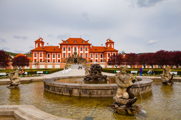 PRAGUE, CZECH REPUBLIC - APRIL, 30, 2017: Troja Palace, hosts the 19th century Czech art collections of the City Gallery