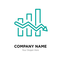 Data analytics descendant company logo design template