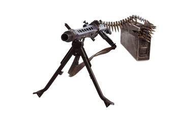MG 42 German single machinegun of the Second World War on a white background