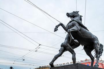 Horse tamer sculpture in St.Petersburg