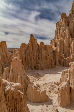 Amazing bentonite clay formations of Cathedral Gorge State Park in Nevada, USA