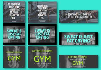 9 Fitness Social Media Post Layouts