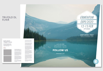 Brochure Layout with Natural Landscape Photo
