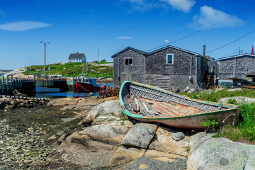 The fishing village of Peggy's Cove in rural Nova Scotia.