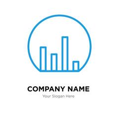 Bar chart company logo design template