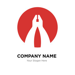 flat plyer company logo design template