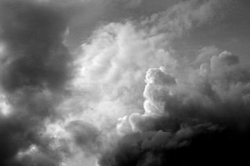 Dark clouds before the rain.