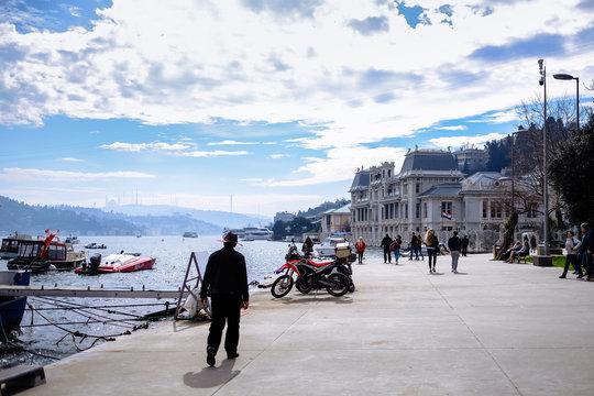 View of the beautiful promenade, pier