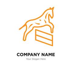 Horse company logo design template