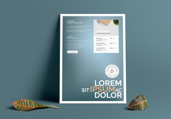 Blue-Gray Gradient Poster Layout