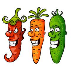 Vegetable. Set vector illustration
