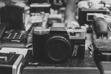 Old trashed camera