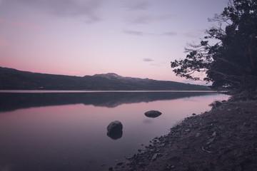 Beatiful sunset in Los Alerces National Park, Patagonia, Argentina