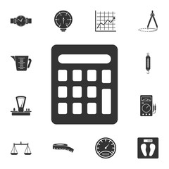 calculator icon. Simple element illustration. calculator symbol design from Measuring collection set. Can be used in web and mobile