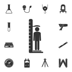 growth meter icon. Simple element illustration. growth meter symbol design from Measuring collection set. Can be used in web and mobile