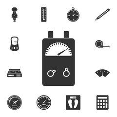 Voltage Ampere Meter tester icon. Simple element illustration. Voltage Ampere Meter tester symbol design from Measuring collection set. Can be used in web and mobile