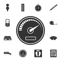 speedometer icon. Simple element illustration. speedometer symbol design from Measuring collection set. Can be used in web and mobile