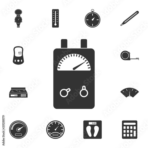 Voltage Ampere Meter tester icon. Simple element illustration ...