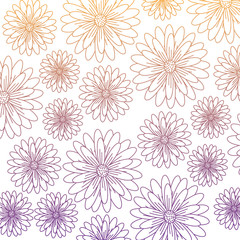 floral background, colorful design. vector illustration