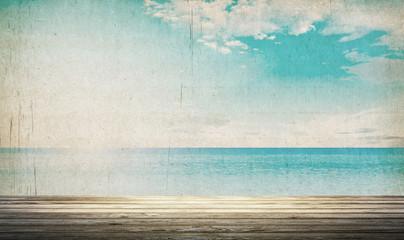 Tropical vintage beach landscape