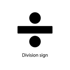 division sign icon. Element of minimalistic icon for mobile concept and web apps. Signs and symbols collection icon for websites, web design, mobile app