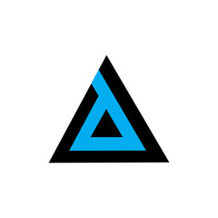 letter d in a triangle logo vector