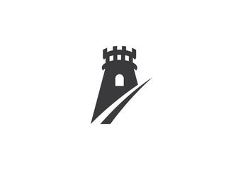 castle logo vector Wall mural