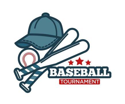Baseball vector icon for sport club tournament