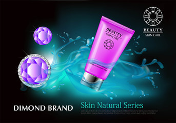 cosmetic facial foam product