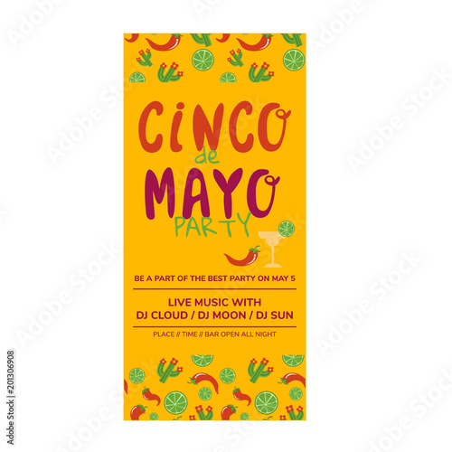 cinco de mayo flyer template stock image and royalty free vector