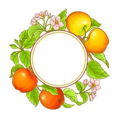 apple vector frame